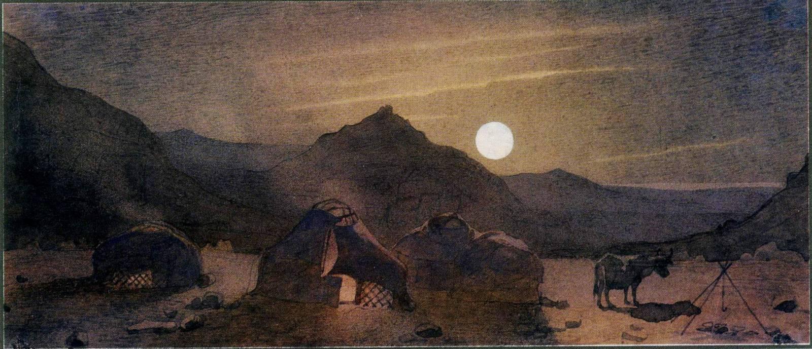Місячна ніч серед гір