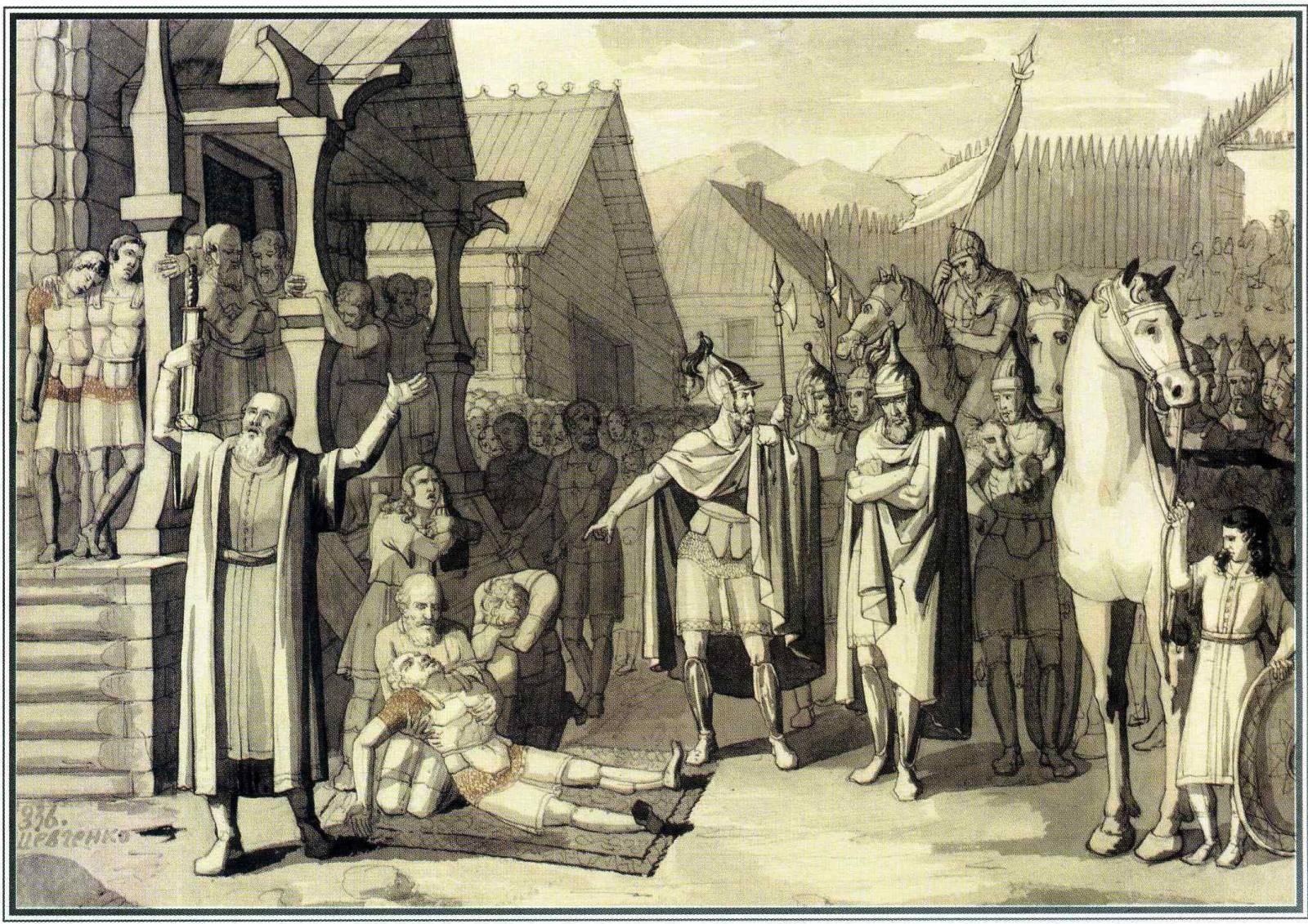 Смерть Олега, князя древлянського