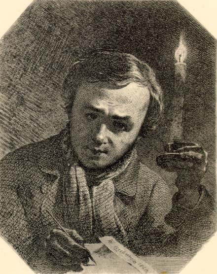 Автопортрет зі свічкою